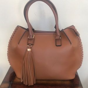 Vegan leather tassel bag